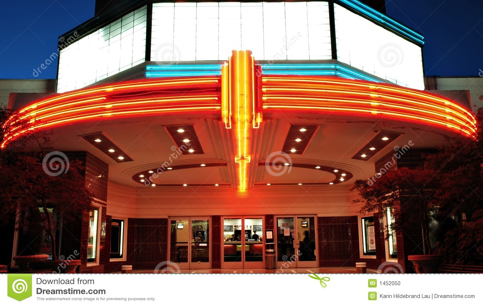 Vintage Movie Theater Stock Photo - Image: 1452050