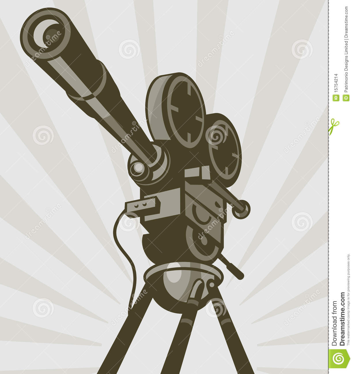 Vintage movie tv film camera stock images image 15754214 - Tv in camera ...