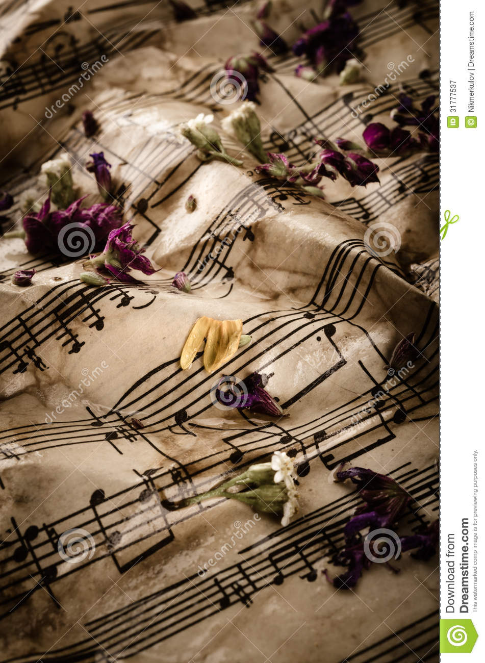Vintage Music Background Stock Image Image Of Antique