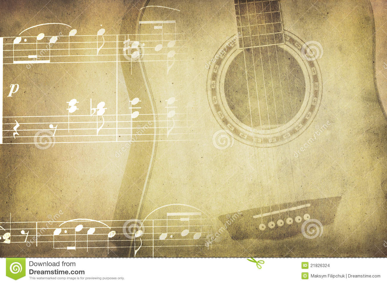 Vintage Music Note Wallpapers For Android Harmony: Vintage Music Collage Stock Photo. Image Of Guitar
