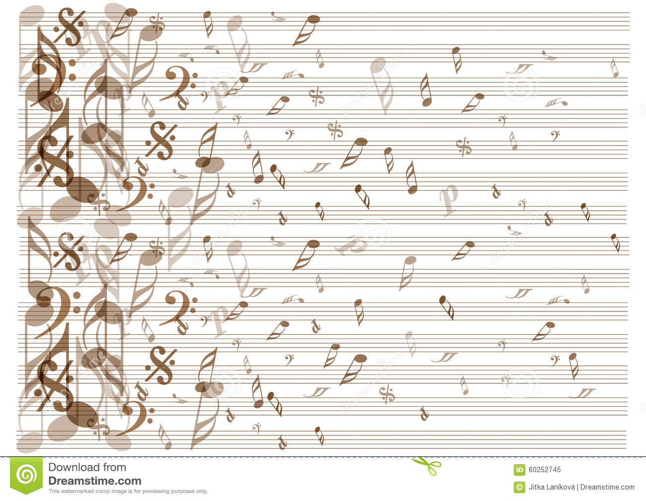 Book Cover Background Music : Vintage music notes background stock vector image