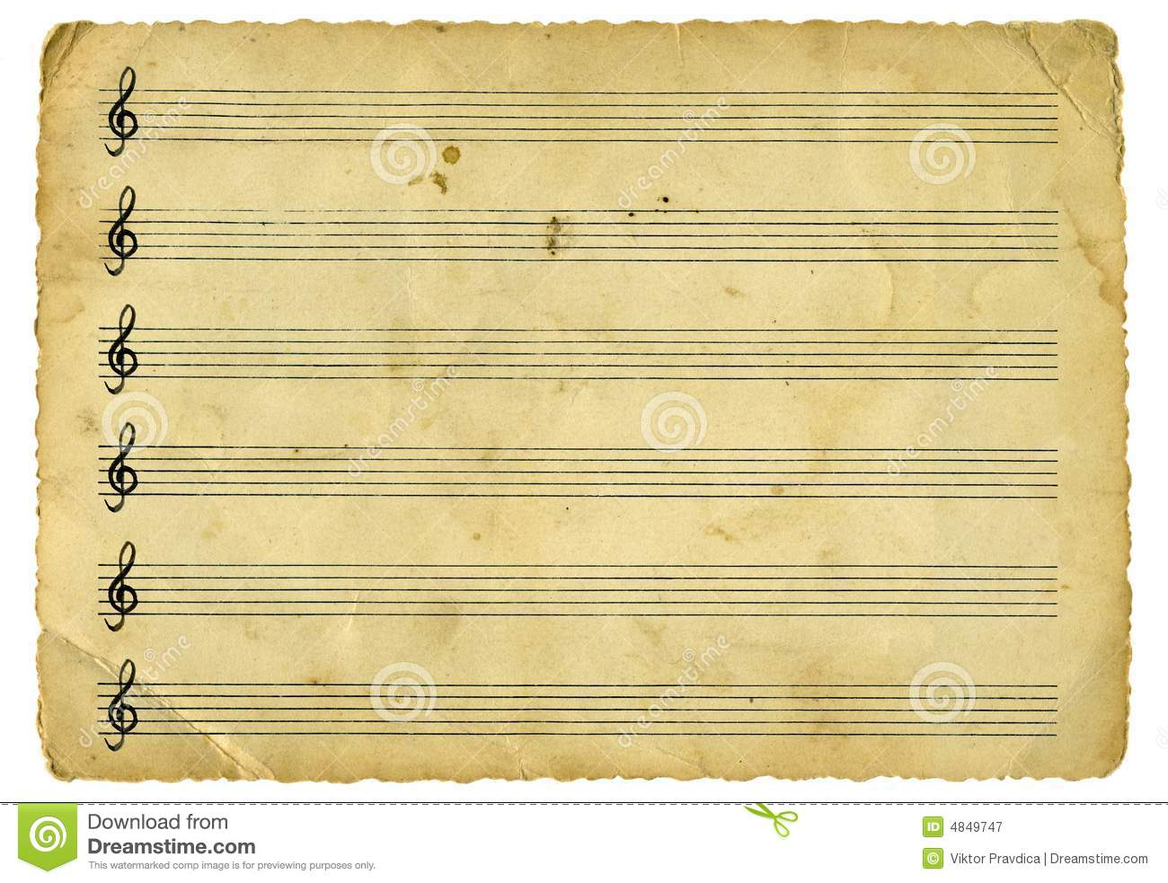 Vintage Music Sheet Royalty Free Stock Photography - Image: 4849747