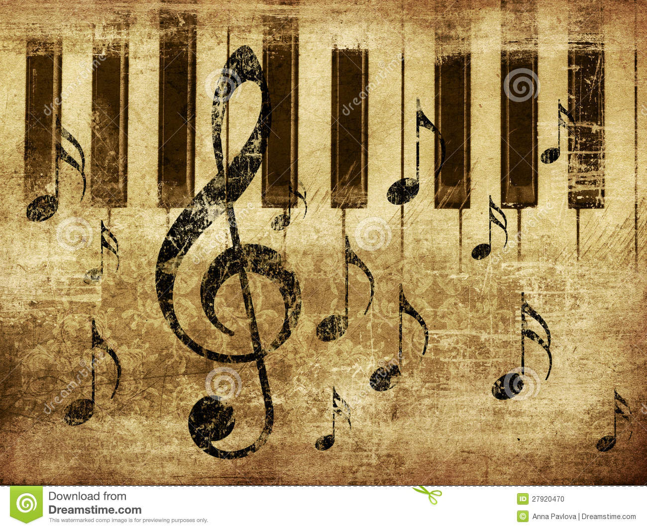 Vintage musical piano background stock photo image 27920470 - Retro vintage ...