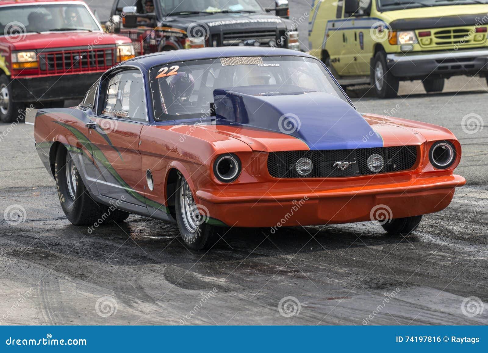 Vintage mustang drag car