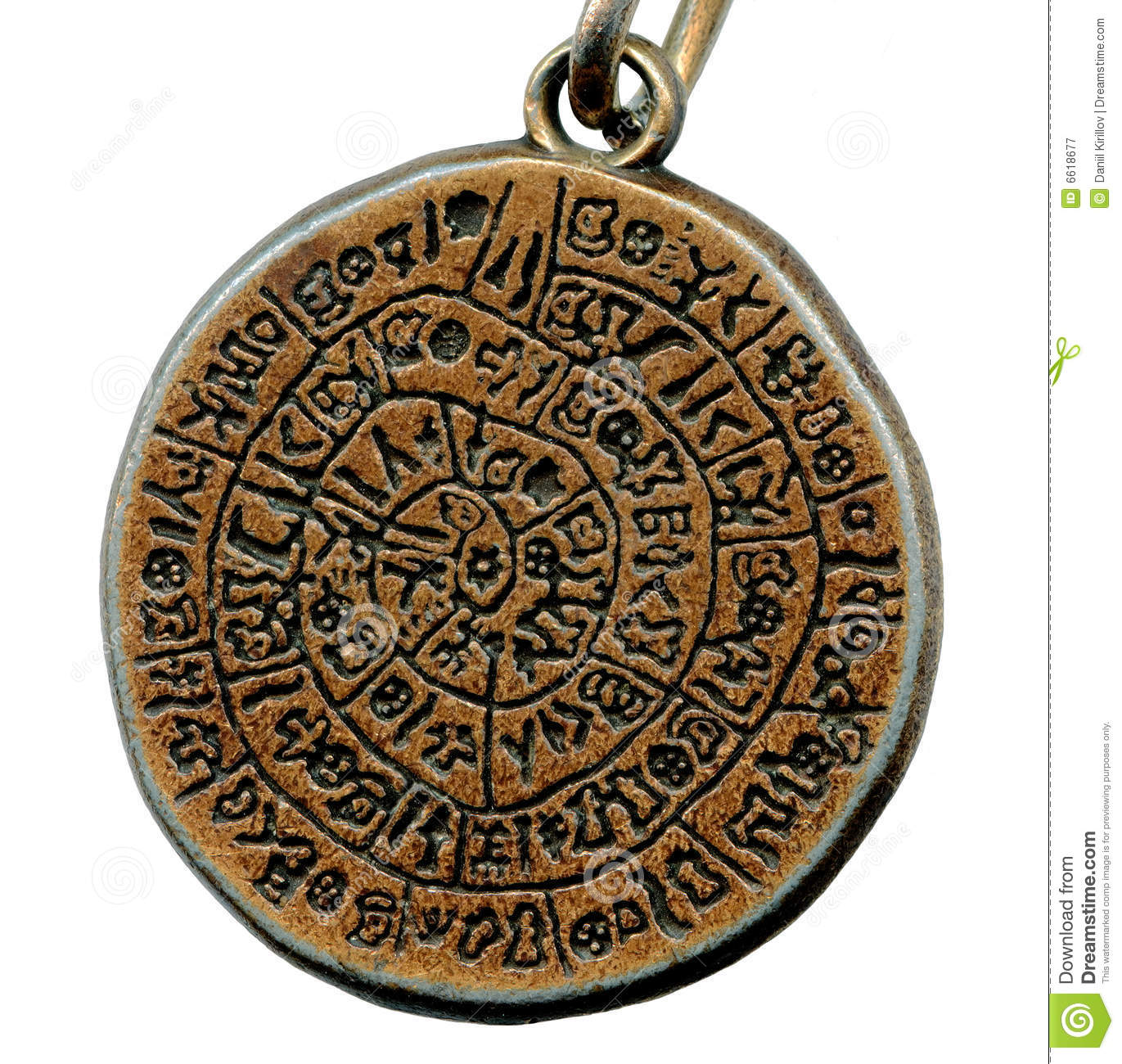 Vintage Mystery Amulet From Old Metal Royalty Free Stock
