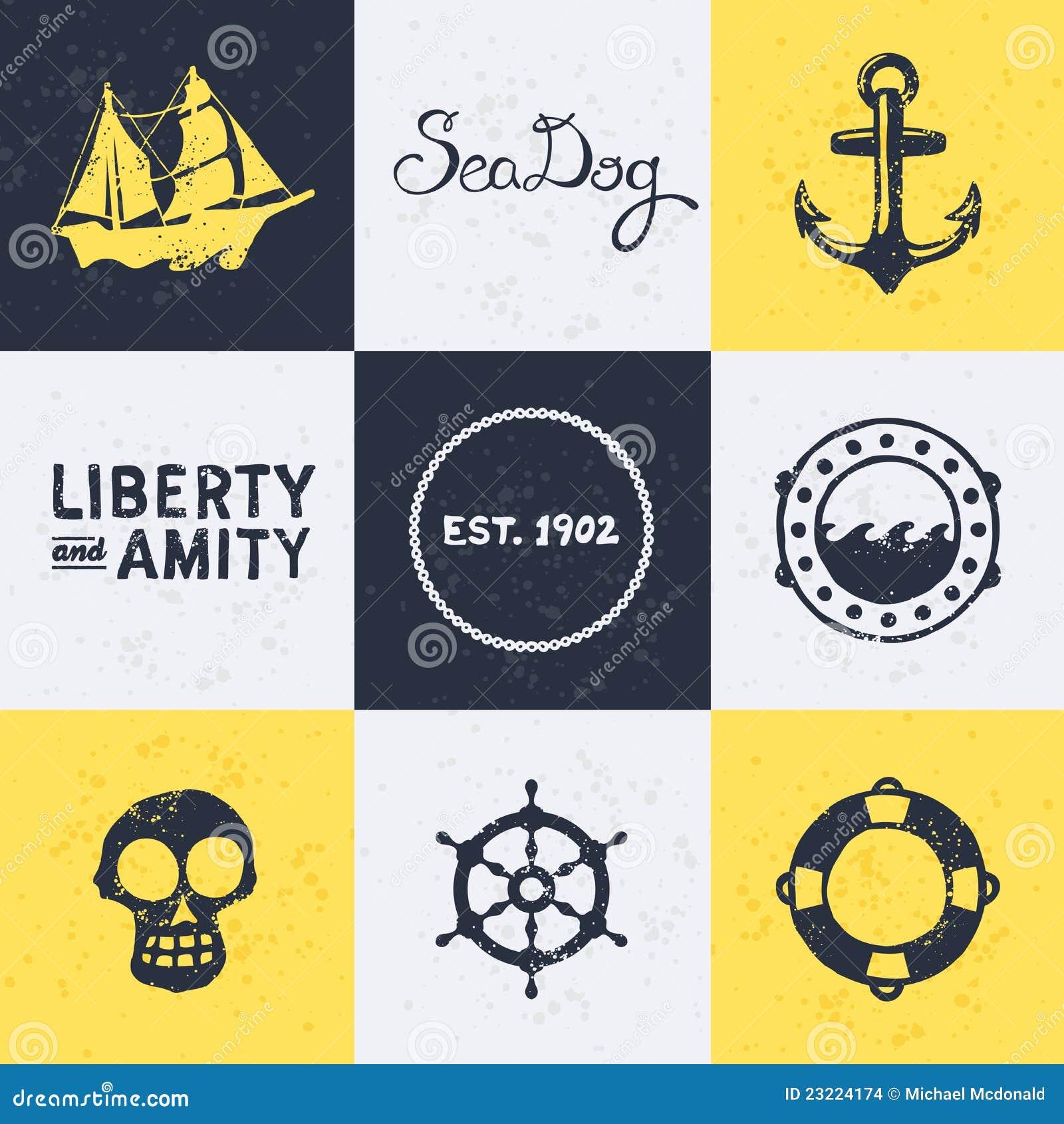 Vintage Nautical Symbols Stock Images Image 23224174
