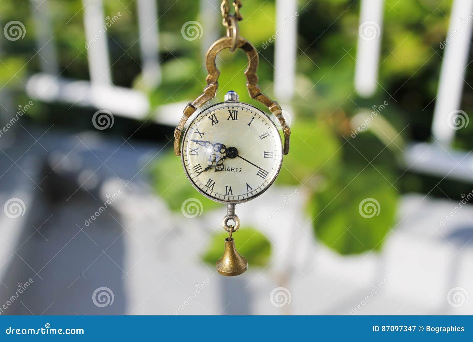 Vintage necklace watch quartz clock