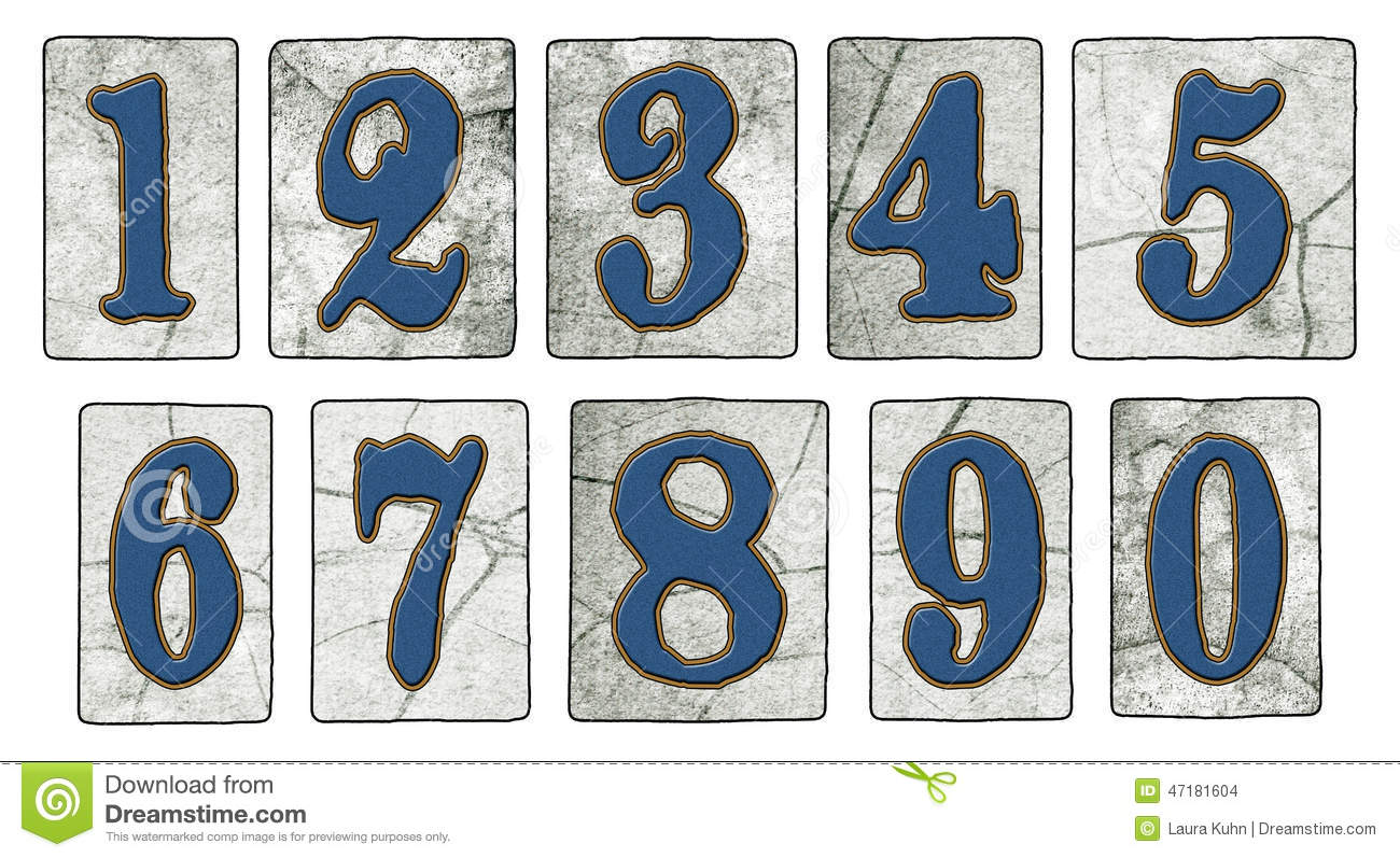 Vintage New Orleans Street Tiles Numbers Stock Photo