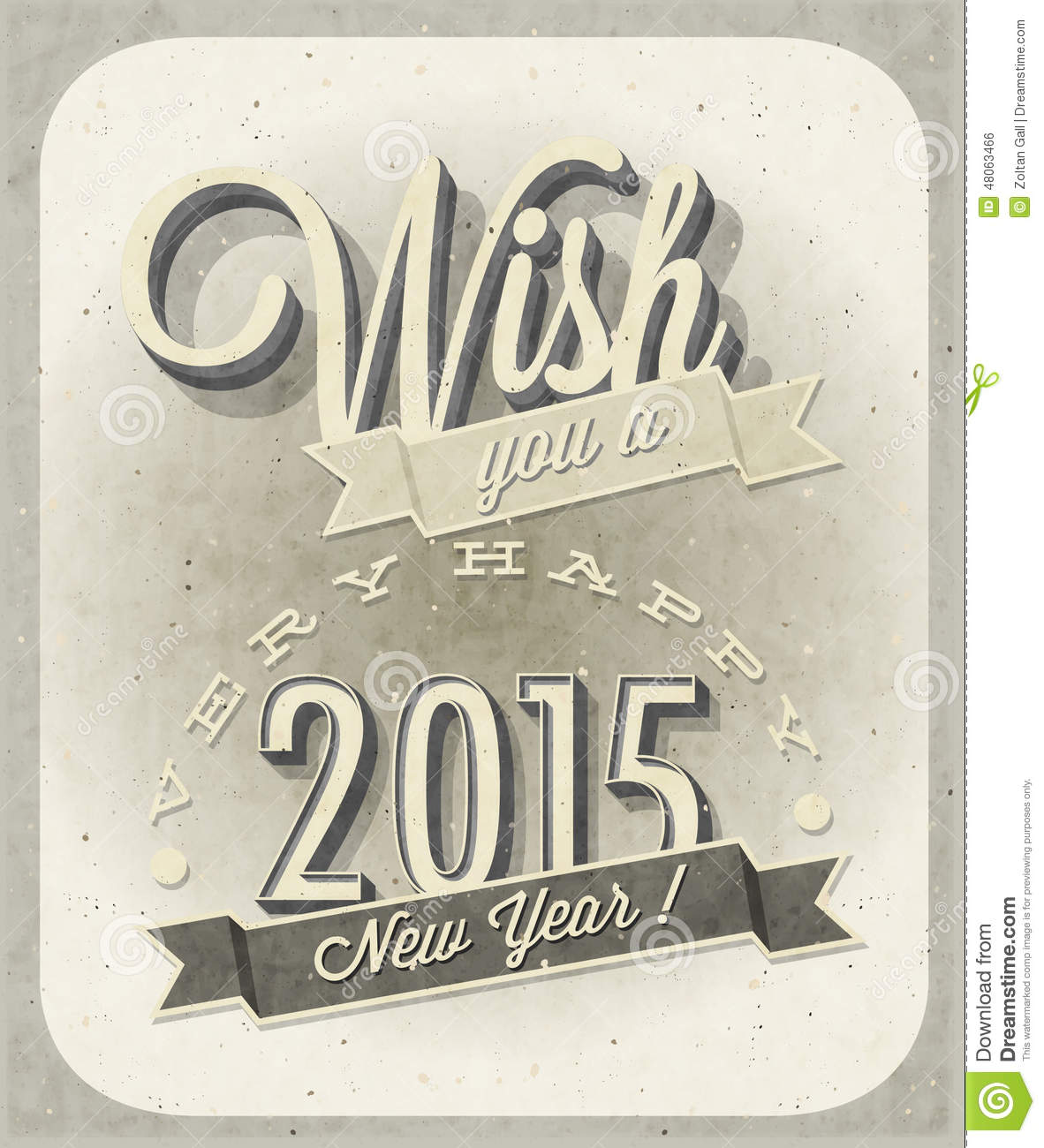 download vintage new years eve card stock vector illustration of holiday invitation