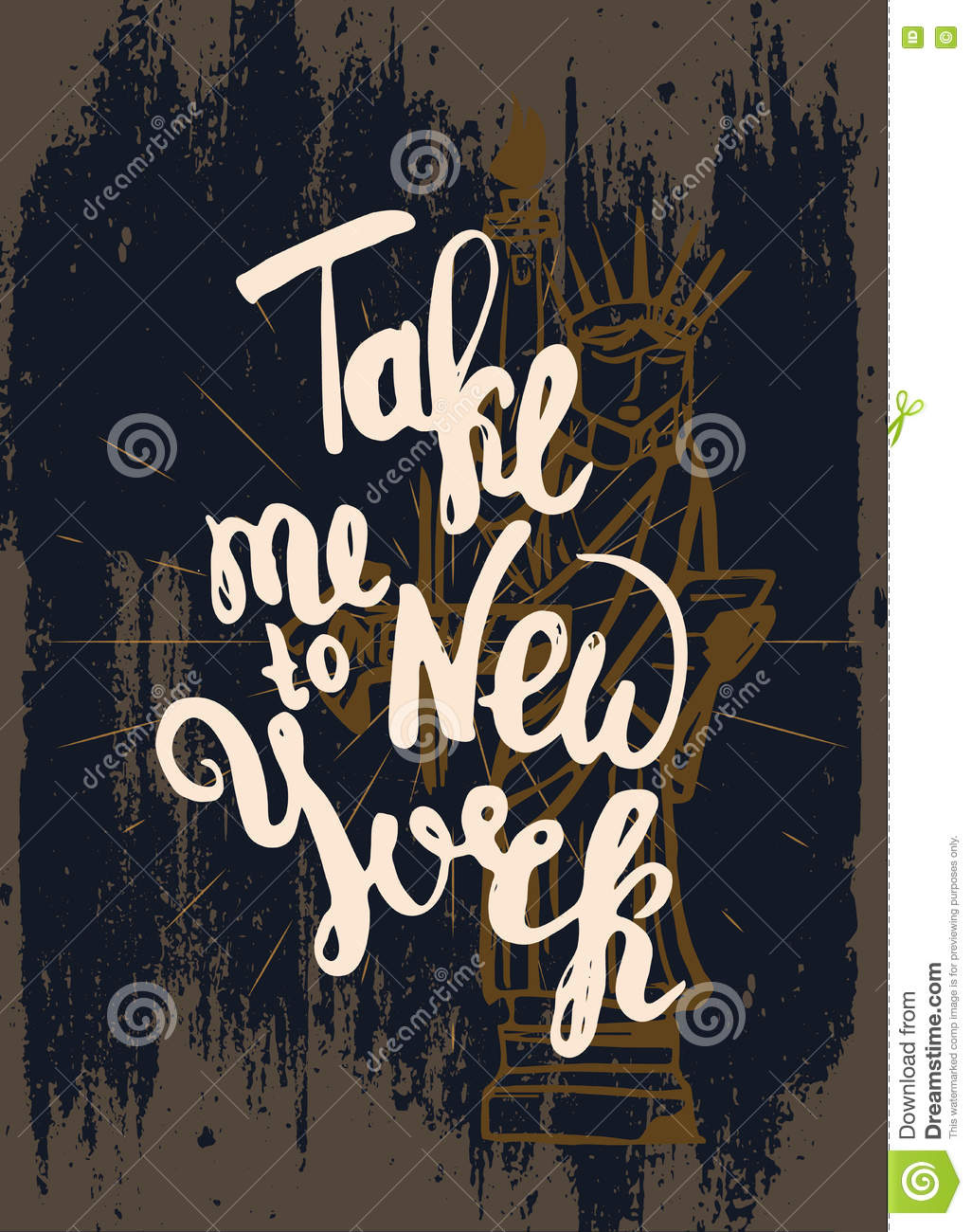 Vintage New York T Shirt Design With Hand Lettering
