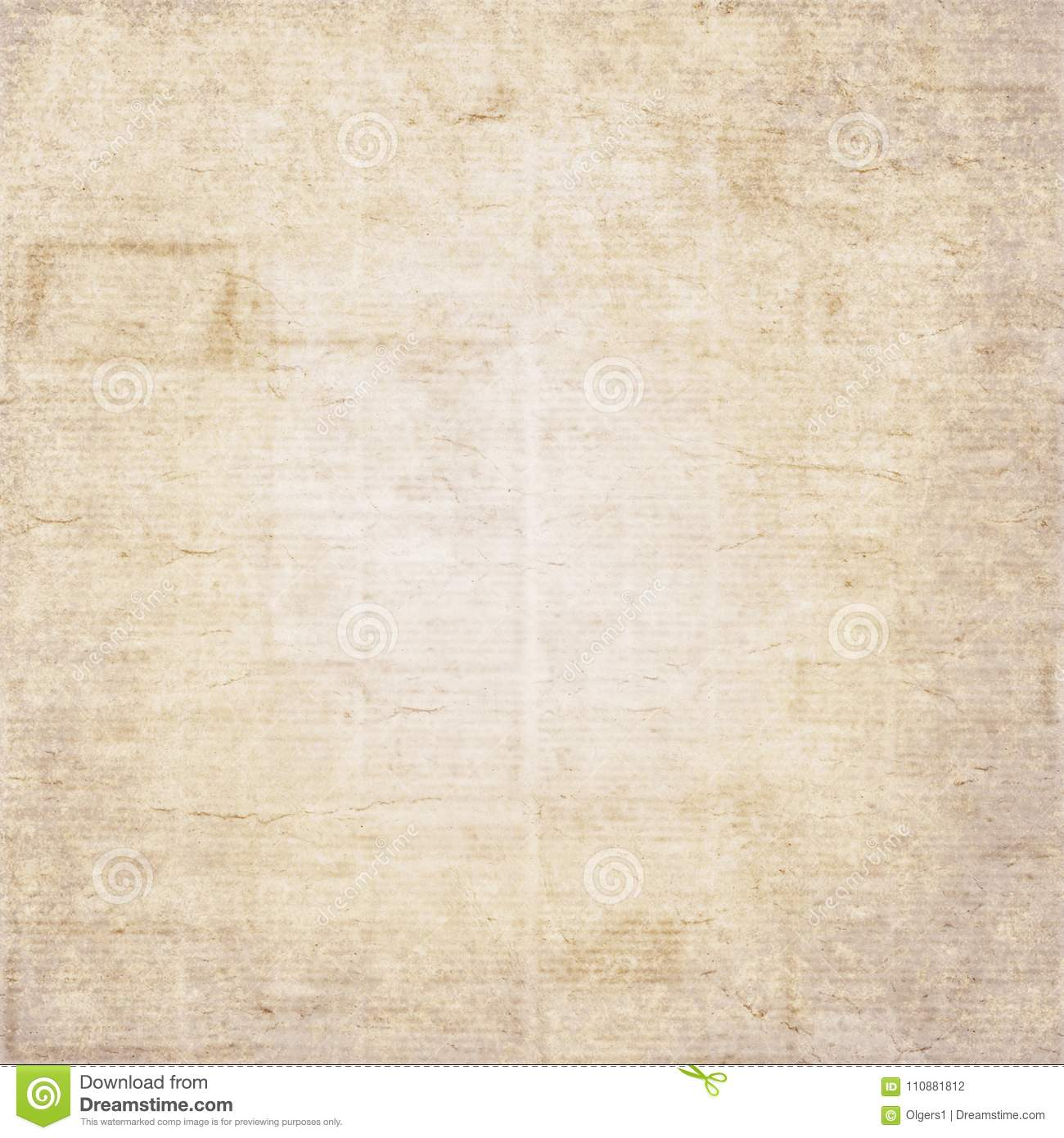 Vintage Newspaper Texture Background