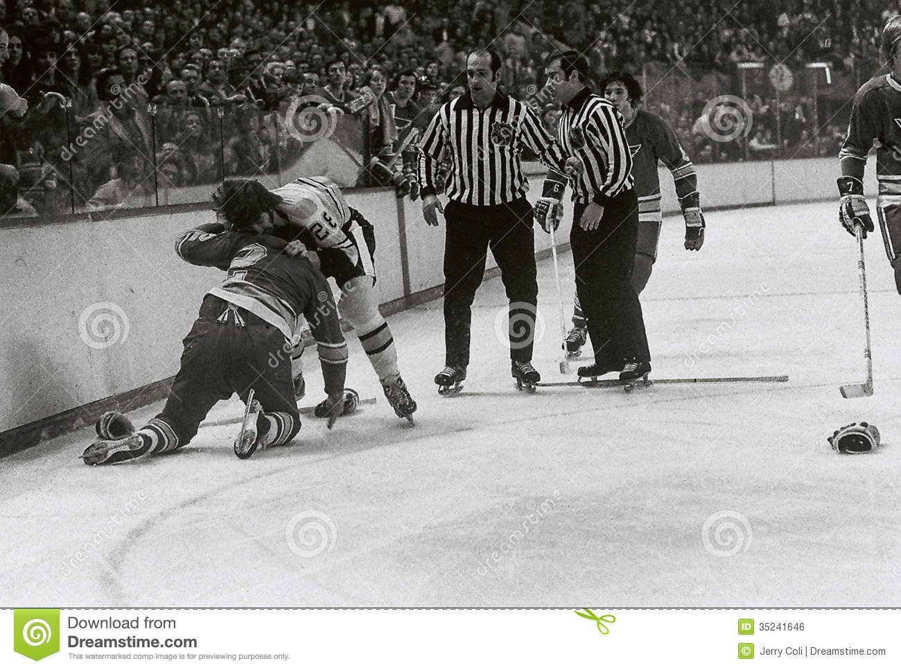 Vintage hockey picture