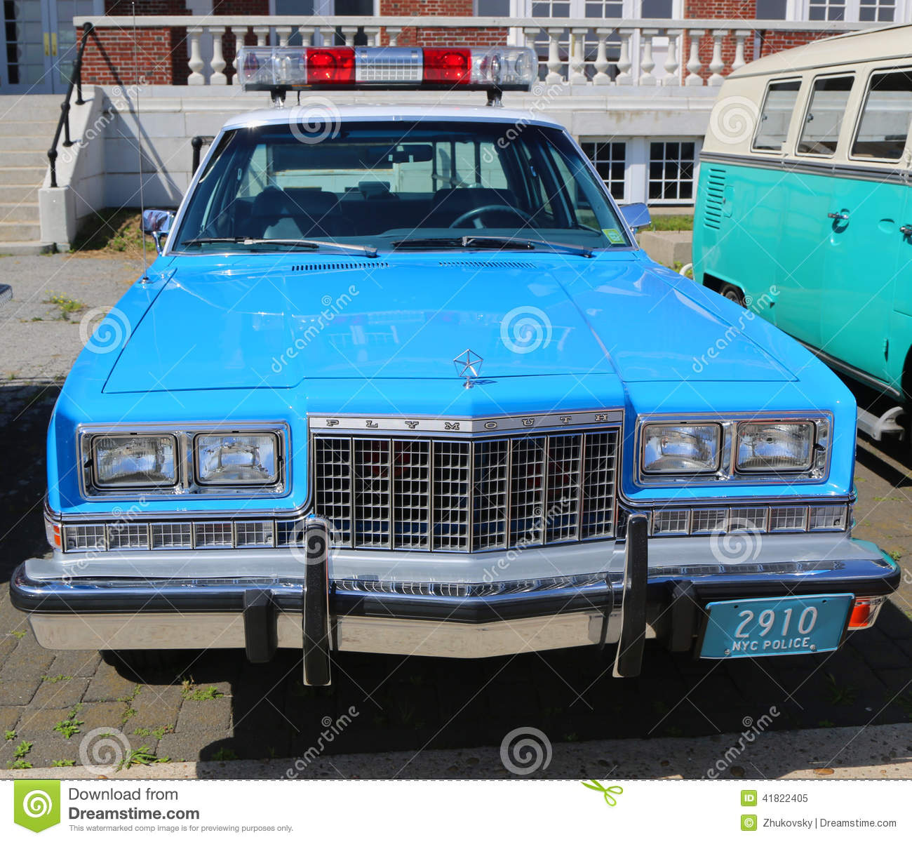 Vintage Nypd Plymouth Police Car Editorial Image Image
