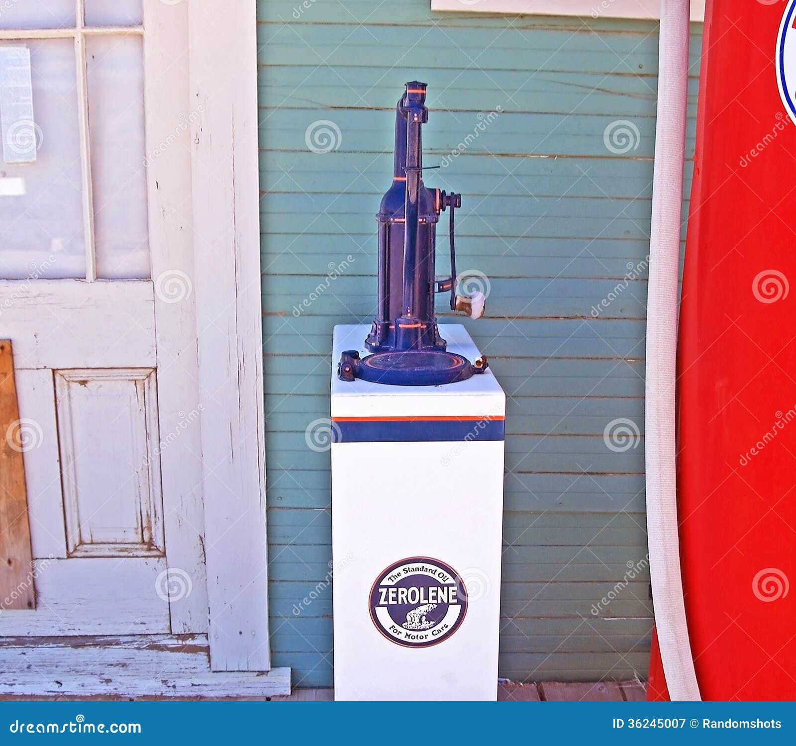 Vintage oil dispenser editorial photography image of for Bulk motor oil prices