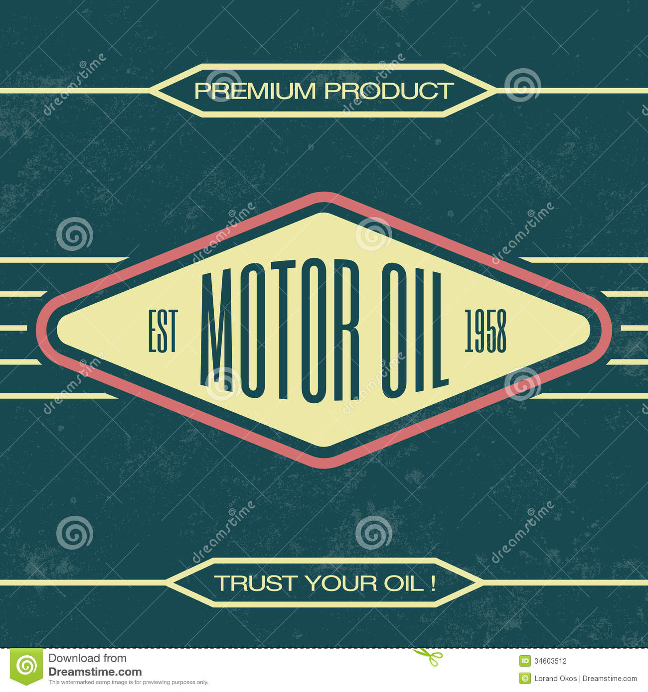 vintage oil sign retro template stock vector illustration of