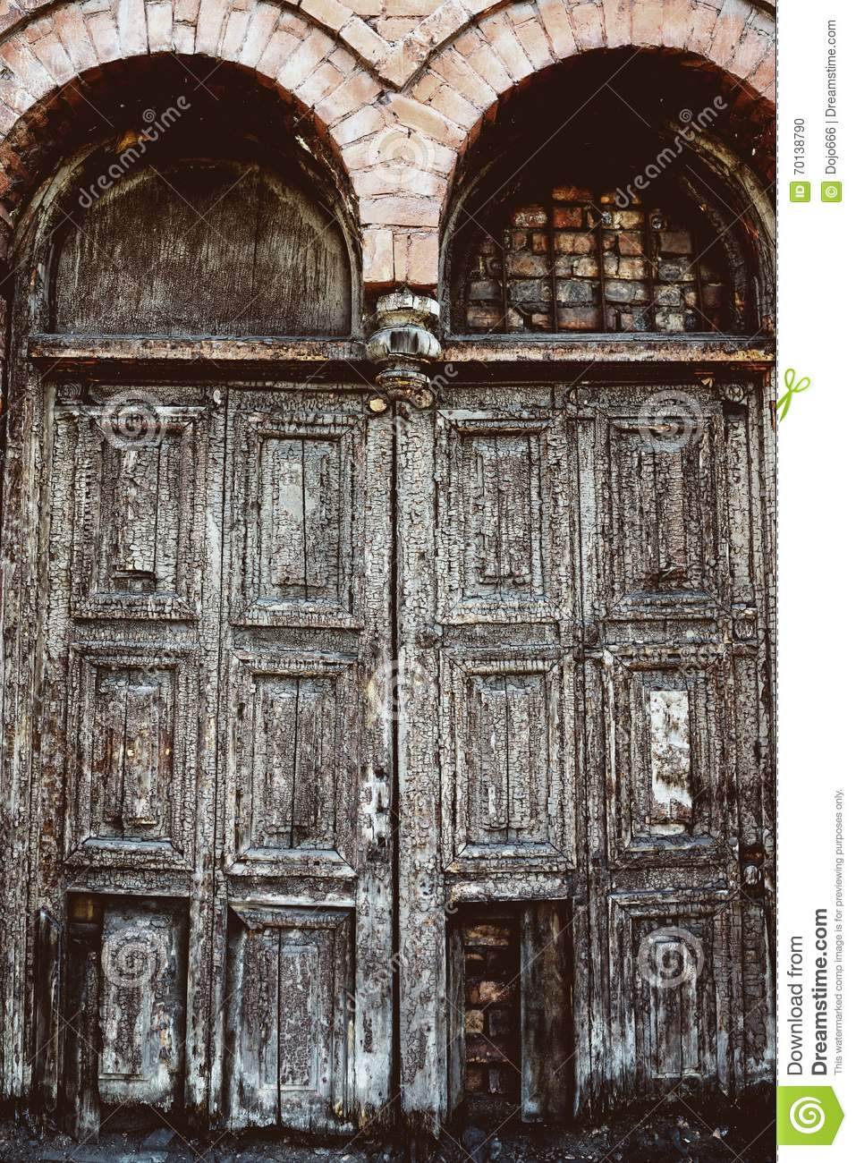 Vintage old antique doors - Vintage Old Antique Doors Stock Photo. Image Of Decor - 70138790