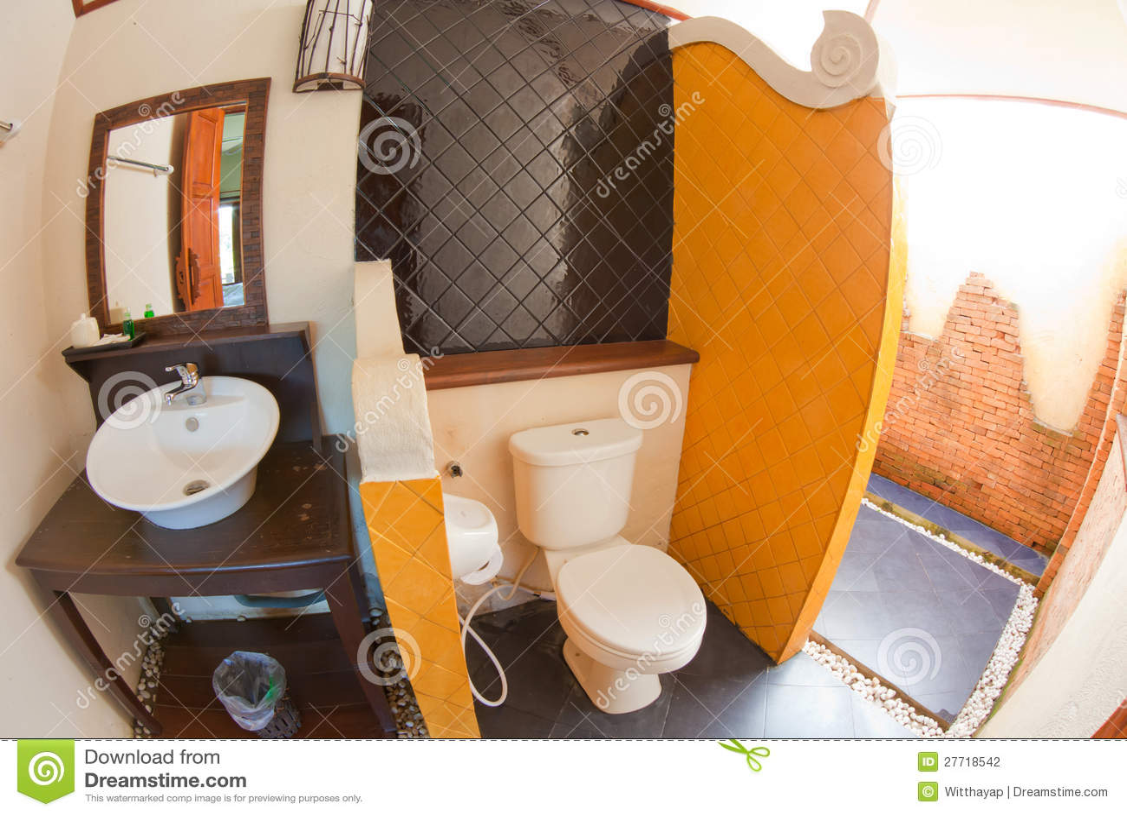 Luxurious Bathroom Wall Brick Stock Photo 56730774