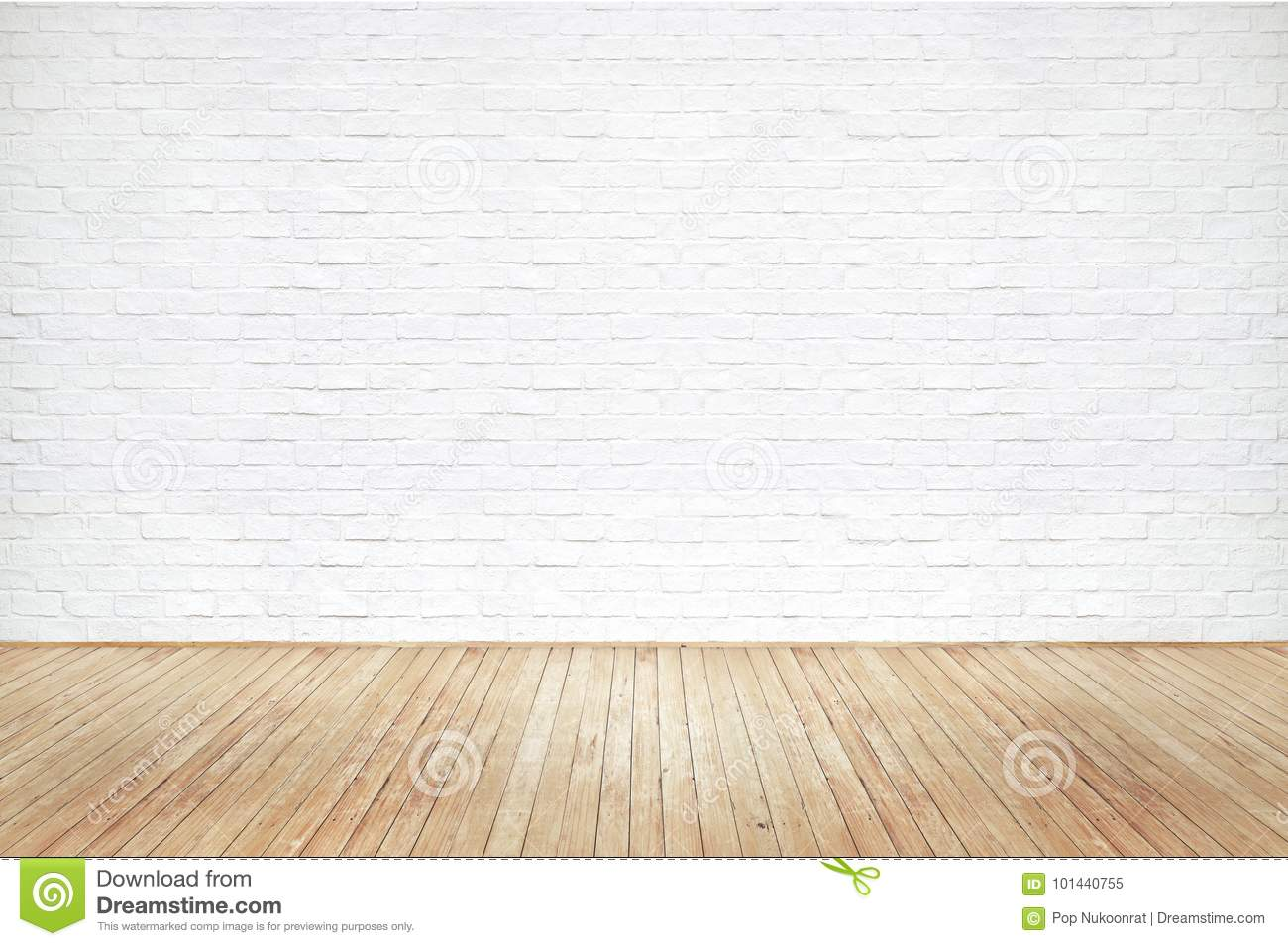 Vintage Old Brown Wooden Floor Texture And White Brick Wall Stock Image Image Of Panel Dust 101440755
