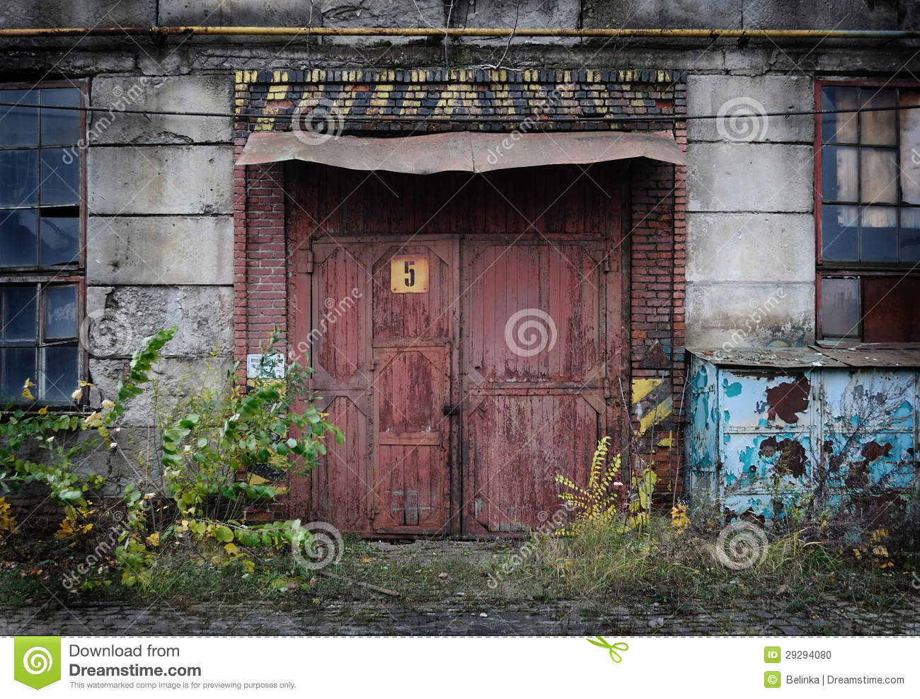 Royalty Free Stock Photo. Download Vintage Old Factory Door ...