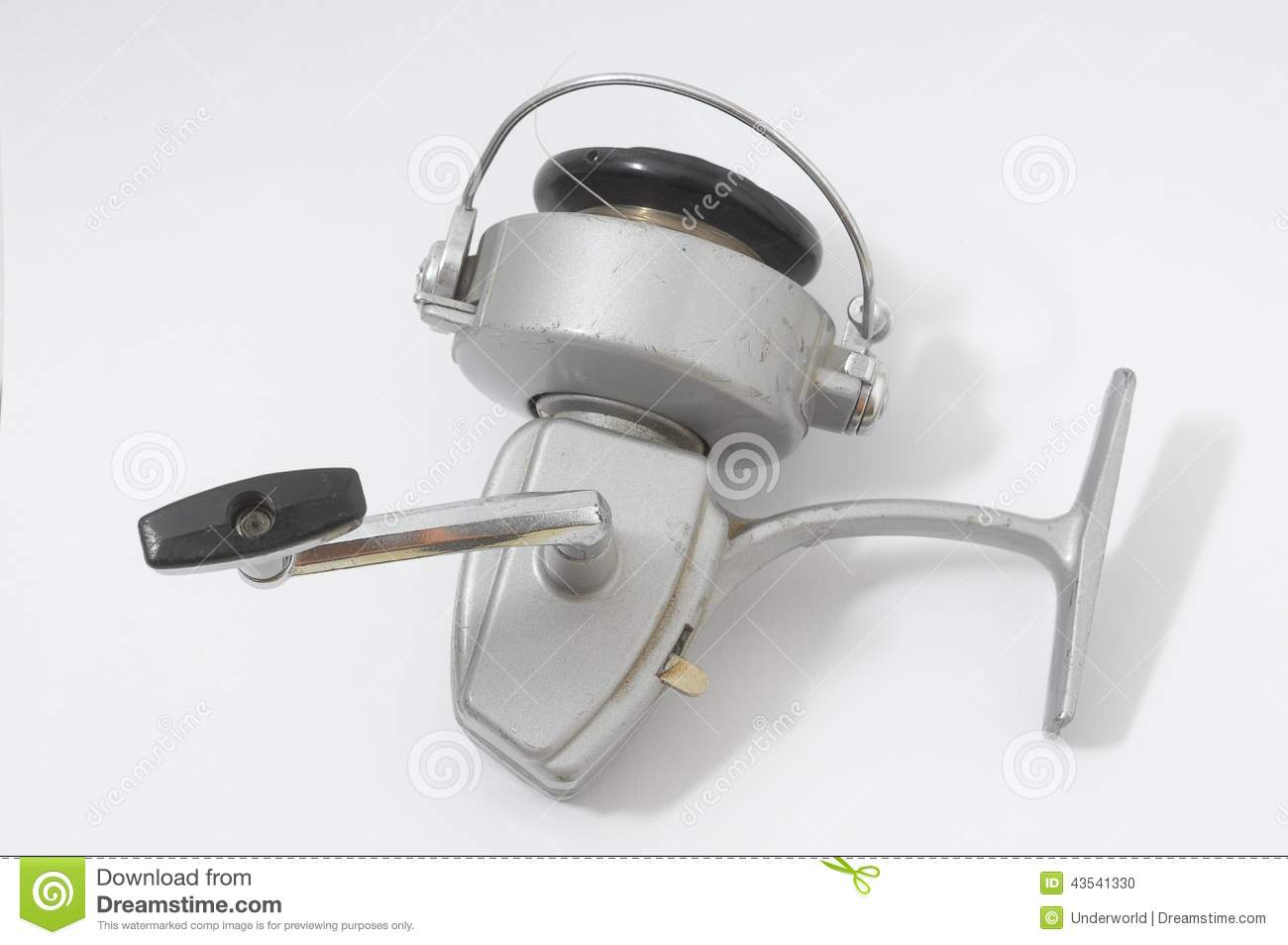 Vintage Fishing Reel On White Background Stock Image ...