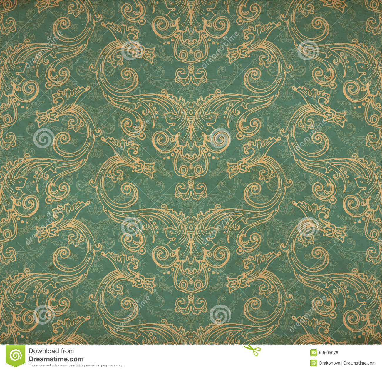 Old Paper Wallpaper: Vintage Old Wallpaper Stock Vector. Illustration Of Azure