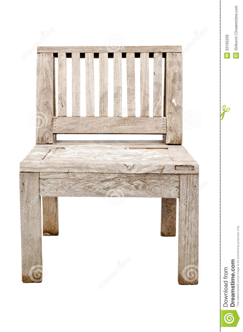 Vintage old wooden chair isolated on white background royalty free