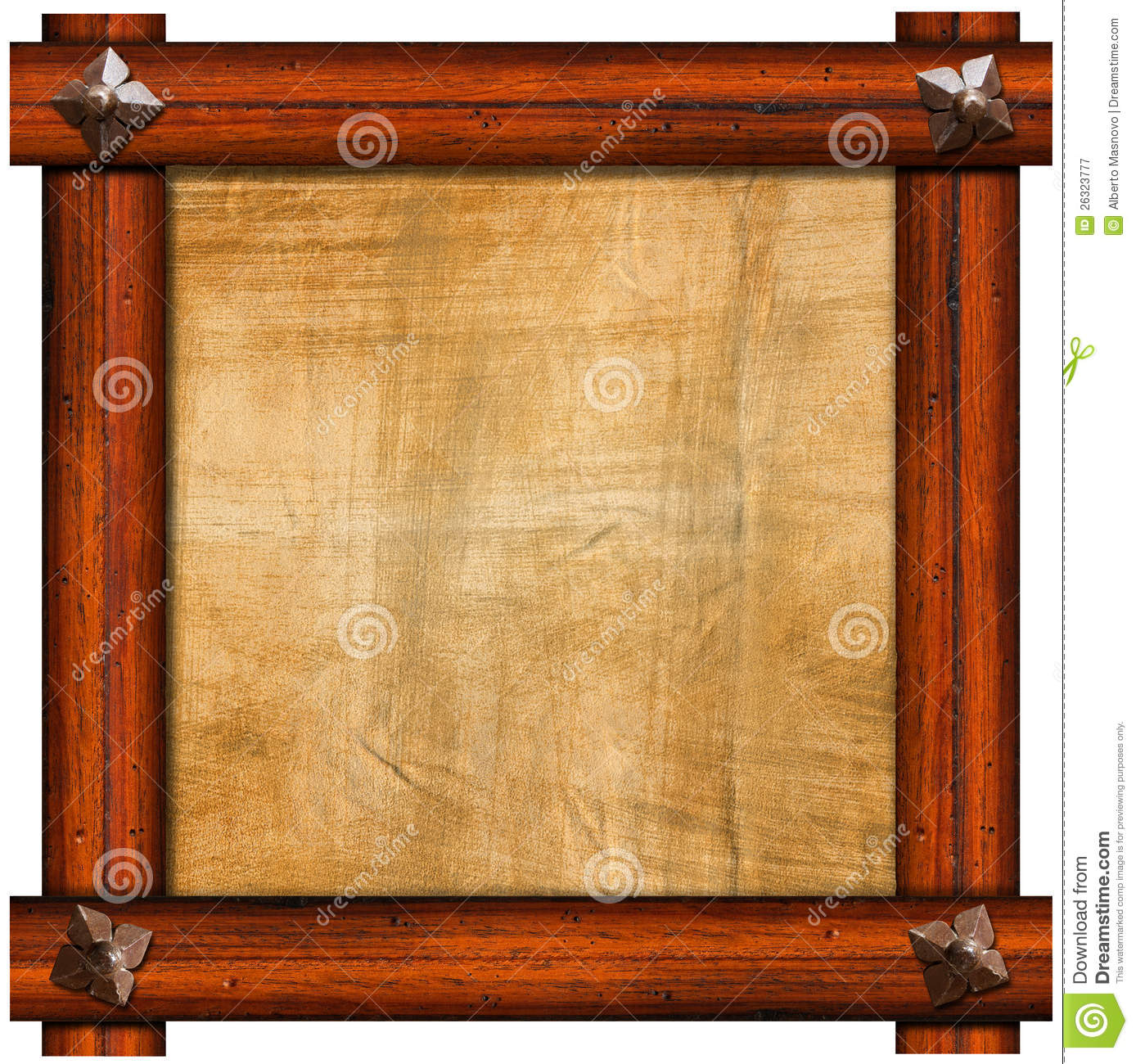 Vintage Old Wooden Frame Royalty Free Stock Photography