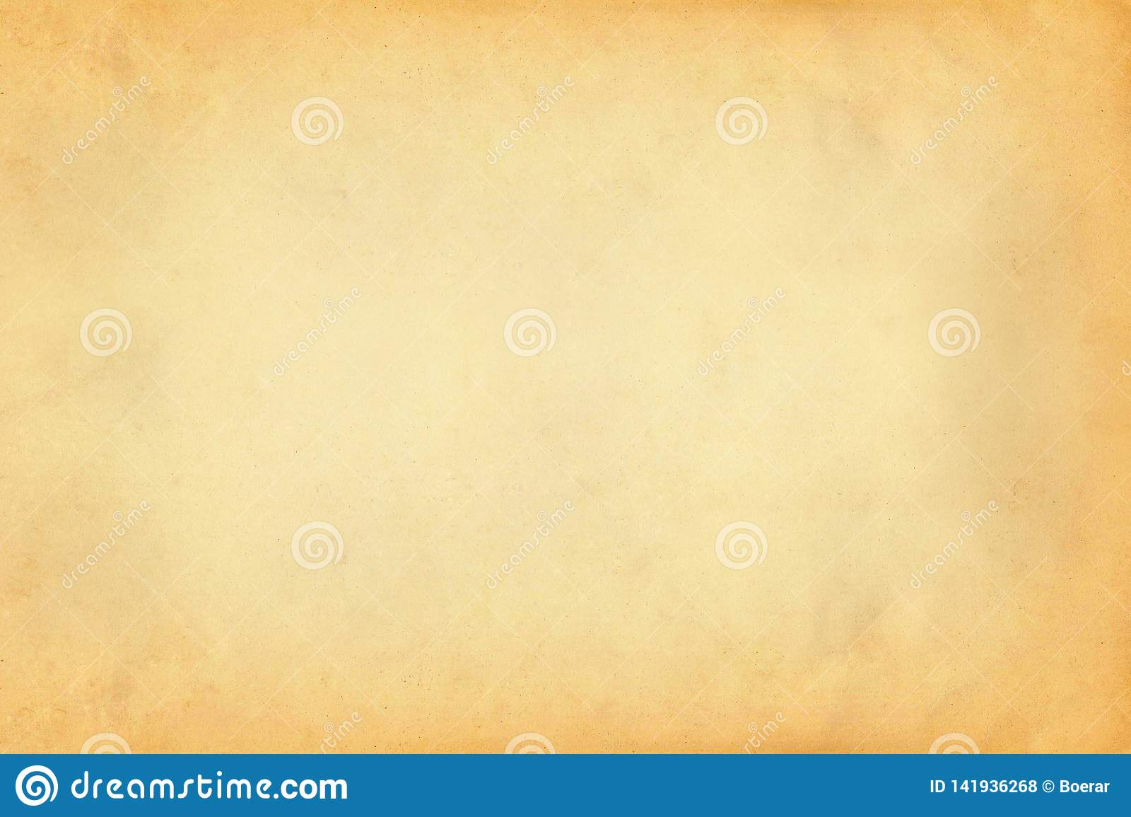 Vintage old yellow and brown paper parchment texture background