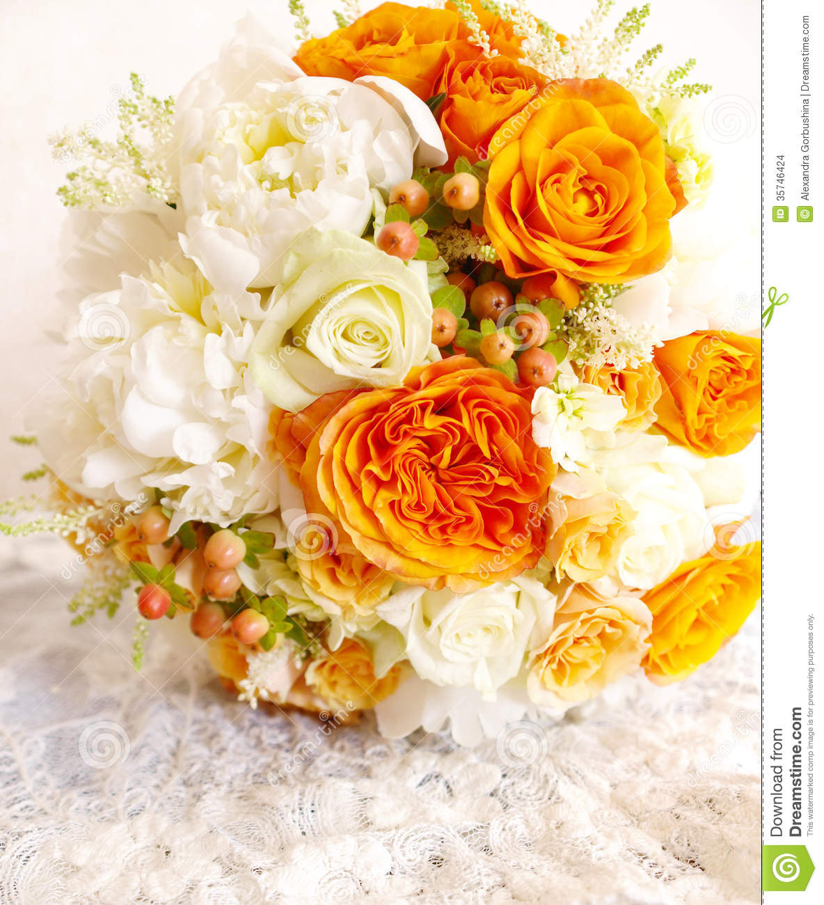 Vintage orange ivory white wedding bouquet stock photo image of vintage orange ivory white wedding bouquet izmirmasajfo