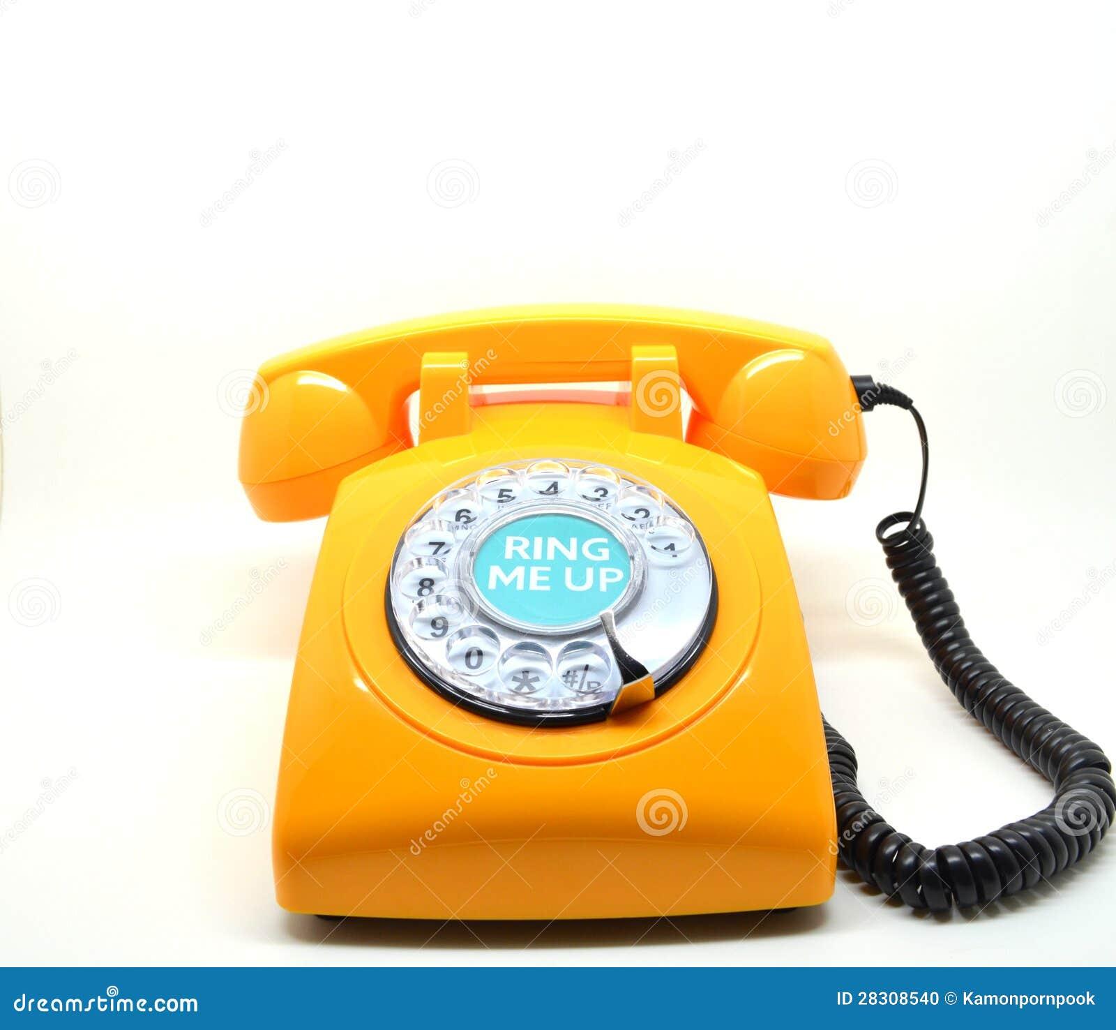 vintage orange telephone stock photo image 28308540. Black Bedroom Furniture Sets. Home Design Ideas