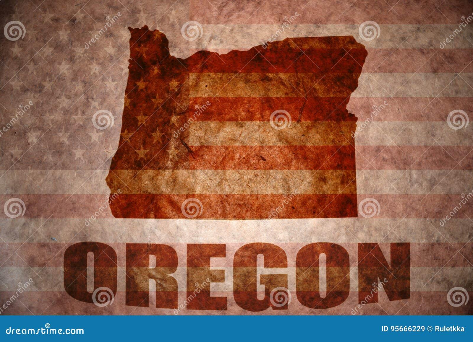 Vintage Oregon Map.Vintage Oregon Map Stock Image Image Of Discovery Papyrus 95666229
