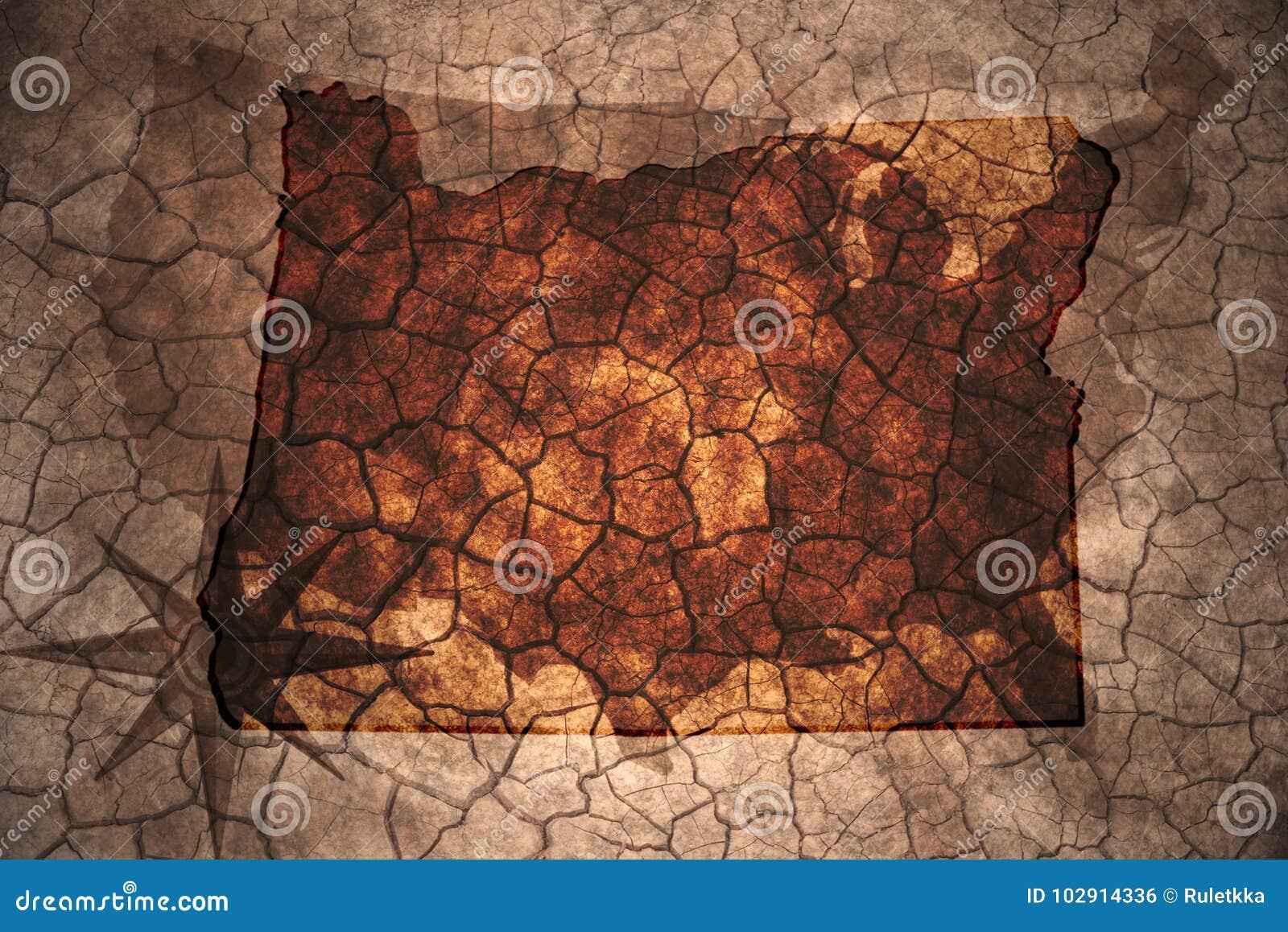 Vintage Oregon Map.Vintage Oregon State Map Stock Illustration Illustration Of Ancient