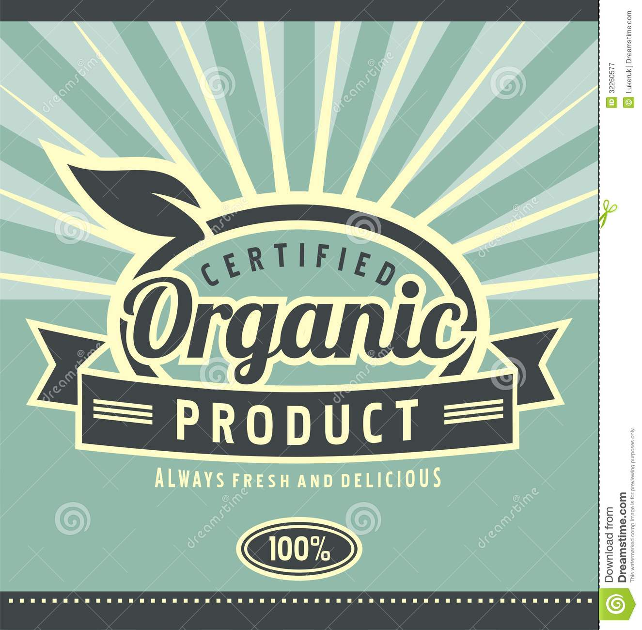 vintage organic product poster design stock vector - illustration of