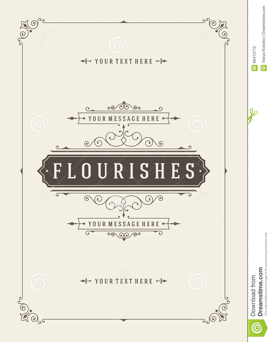 vintage or nt greeting card vector template retro luxury vintage or nt greeting card vector template retro luxury invitation