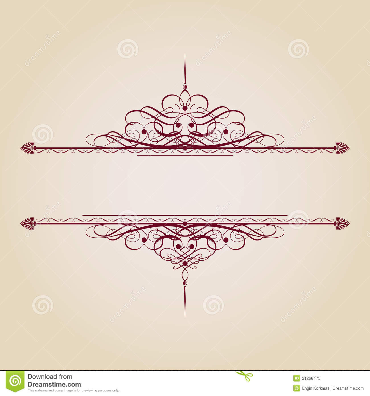 Vintage Ornamental Banner Royalty Free Stock Photo Image