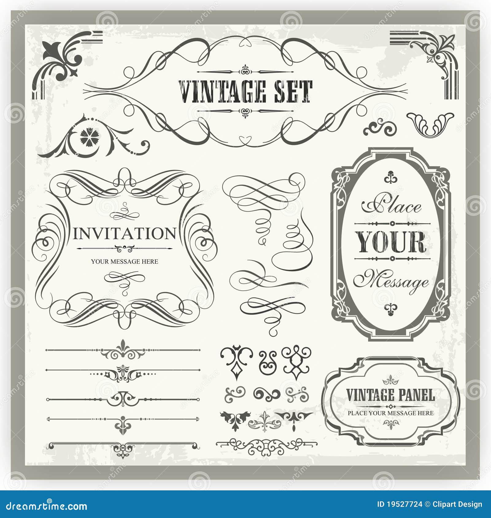 Vintage Ornamental Calligraphic Designs