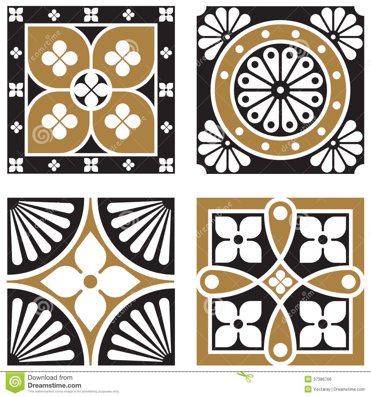Vintage Ornamental Patterns Stock Vector