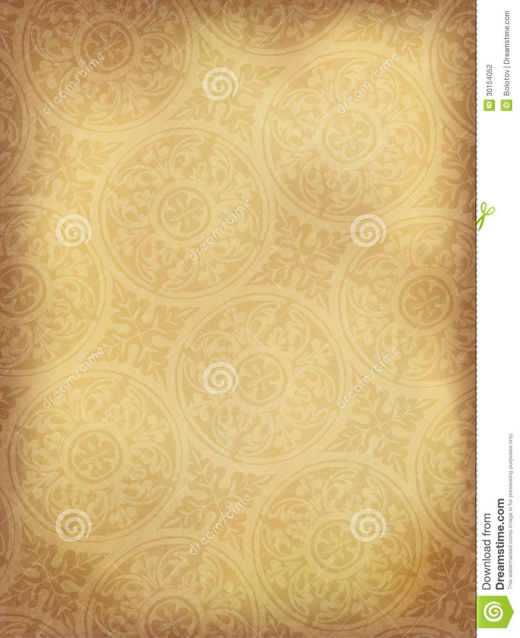 Vintage Ornamented Background Vertical Stock Photography