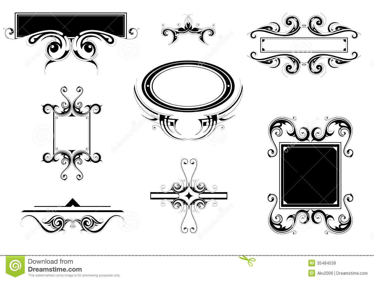 Vintage ornaments stock vector. Illustration of curves
