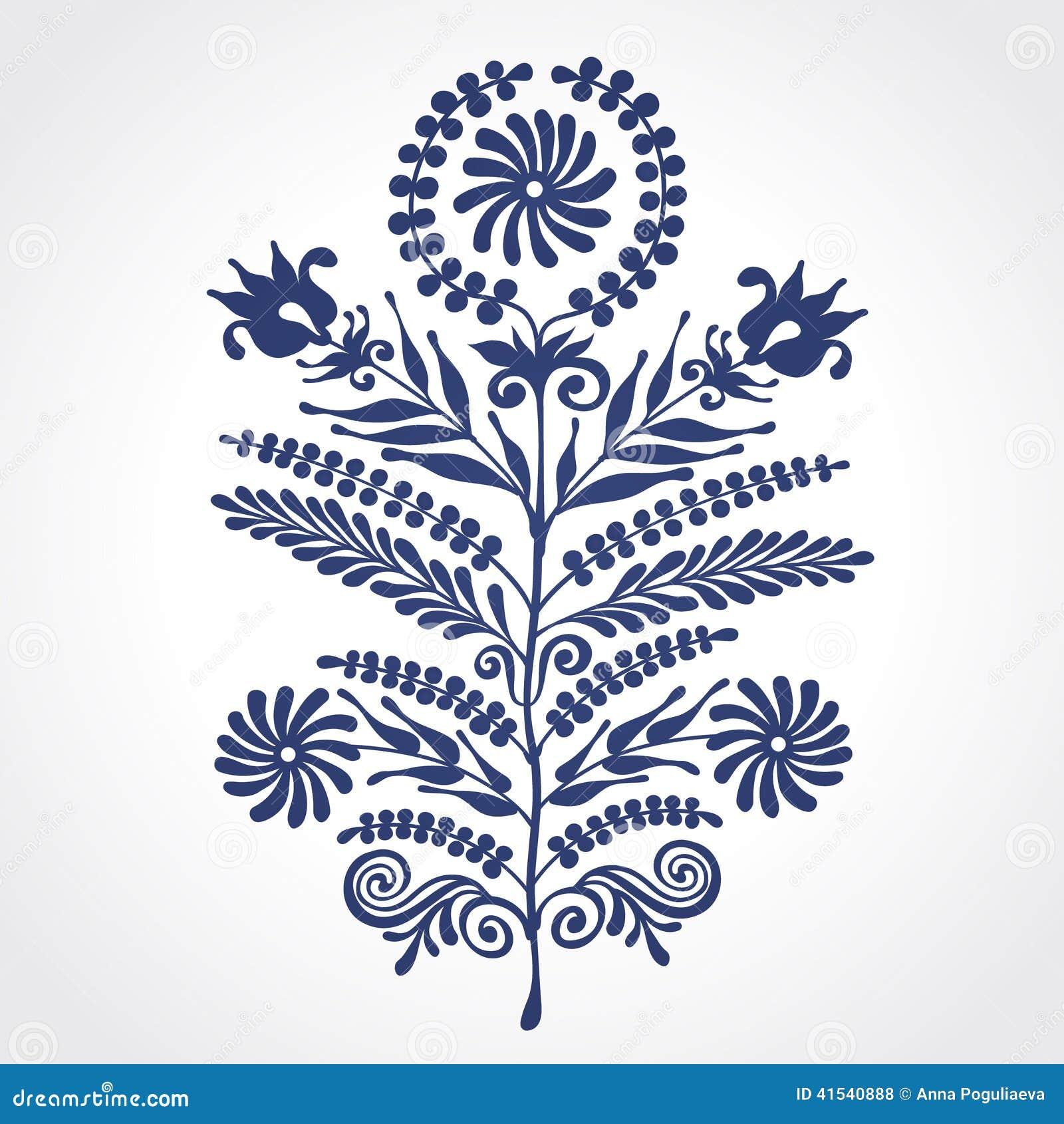 vintage ornate element with floral motifs stock vector image 41540888. Black Bedroom Furniture Sets. Home Design Ideas