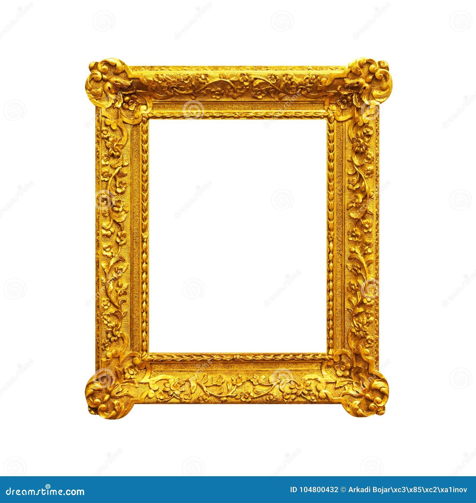 ea30c25a8c48 Vintage Ornate Frame Isolated On White Stock Photo - Image of ...