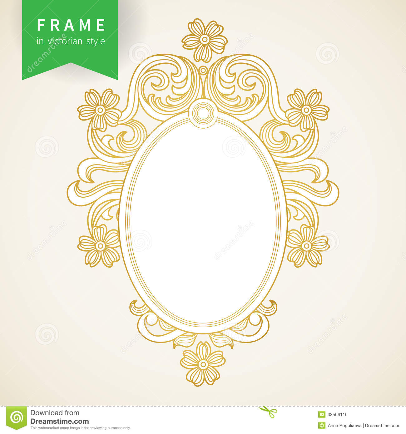 Vintage ornate frame with place for your text stock photo for Cadre floral mural
