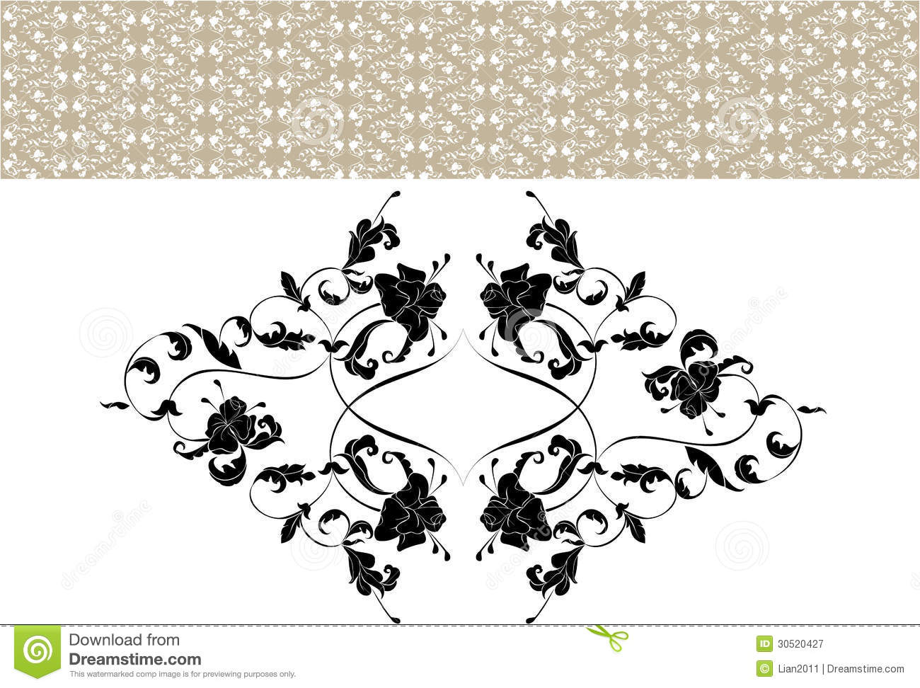 Vintage Ornate Seamless Pattern In Rococo Style Royalty Free Stock