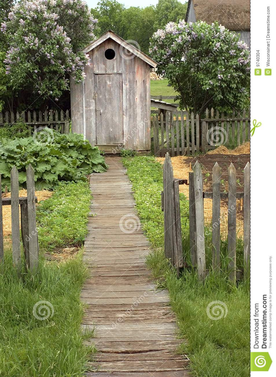 Vintage Outhouse On The Farm Stock Images Image 9740304