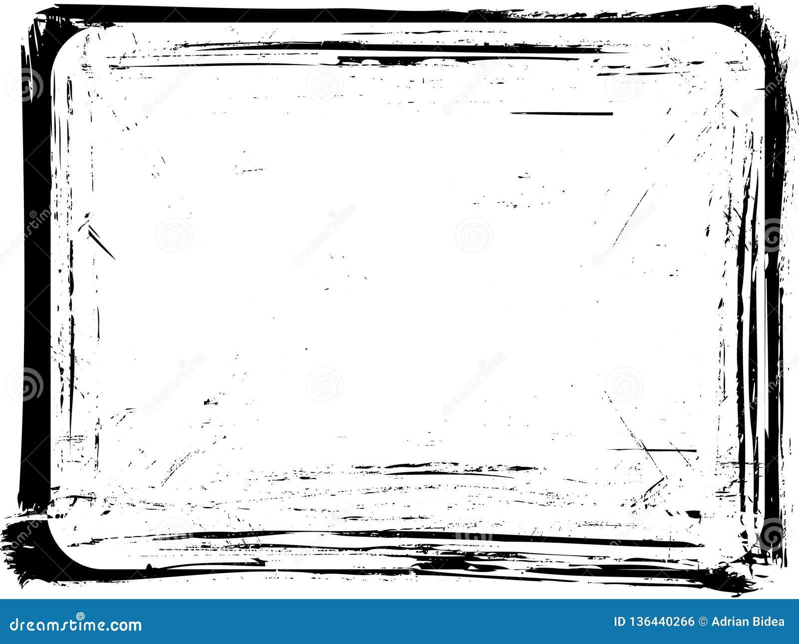 Vintage paintbrush border  stock illustration  Illustration