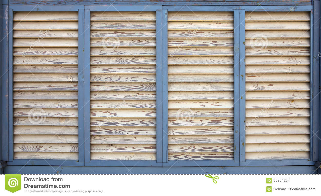 Vintage Painted Wooden Blinds Stock Photo Image Of Wooden Furniture 60864254