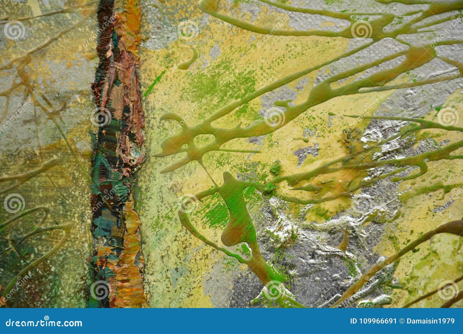 b85c9b78efb Paint Brown Orange Gold Green Brush Strokes