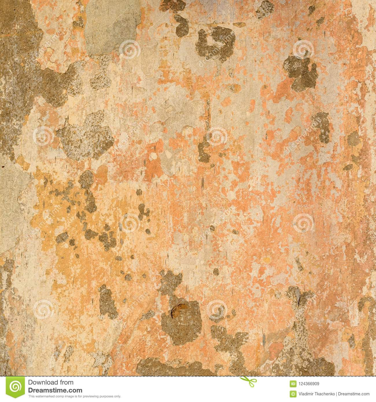 Old Concrete Painted Beige Pastel Wall Texture Stock Image - Image ...