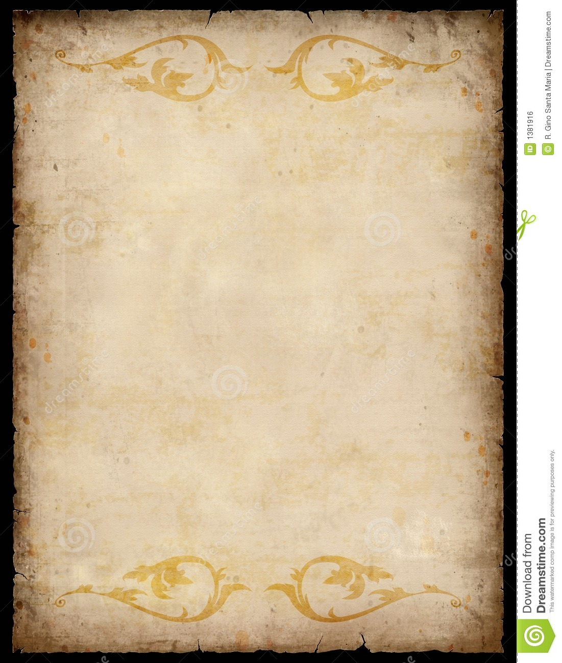 Vintage Paper Background (With Clipping Path).
