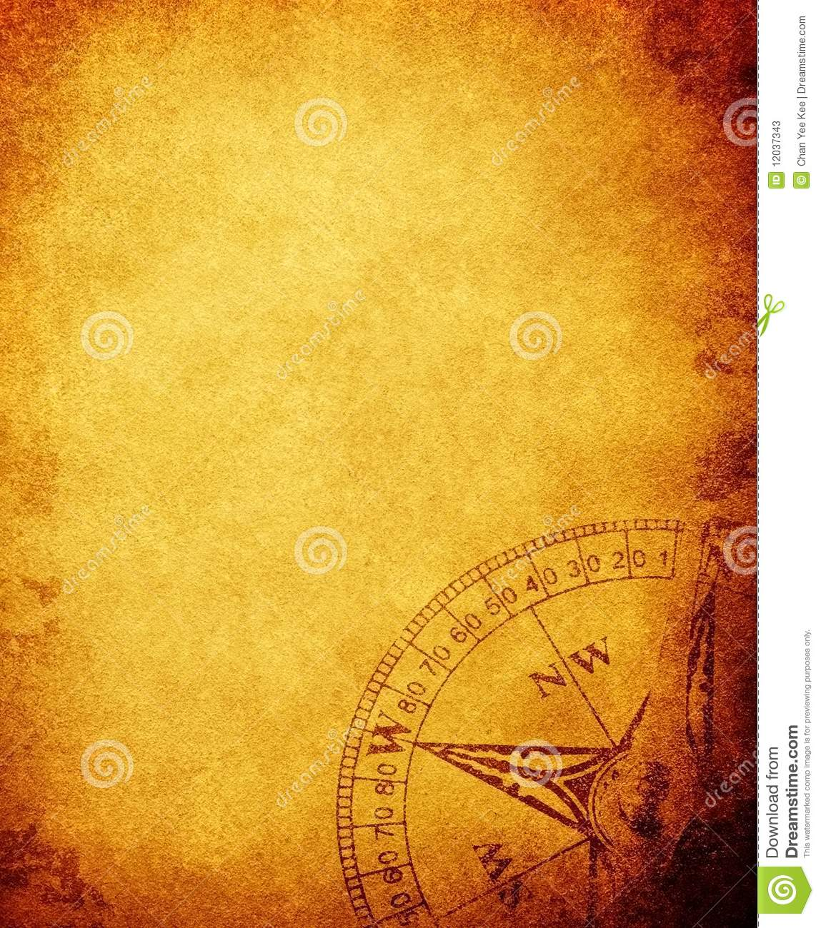 Vintage Paper With Compass Stock Illustration Image Of Illustration 12037343